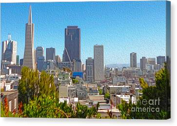 San Francisco - Cityscape - 03 Canvas Print by Gregory Dyer