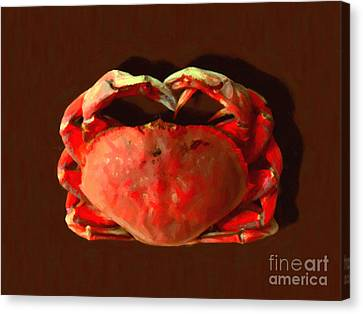 San Francisco Dungeness Crab - Painterly Canvas Print by Wingsdomain Art and Photography