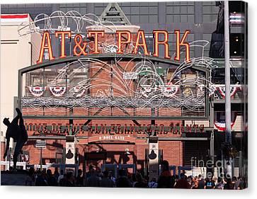 San Francisco Giants World Series Baseball At Att Park 5d29720 Canvas Print by Wingsdomain Art and Photography