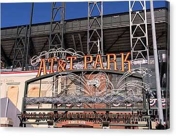 San Francisco Giants World Series Baseball At Att Park Dsc1901 Canvas Print by Wingsdomain Art and Photography