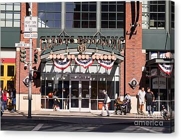 San Francisco Giants World Series Baseball At Att Park Dsc1916 Canvas Print by Wingsdomain Art and Photography