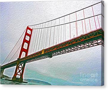 San Francisco - Golden Gate Bridge - 01 Canvas Print by Gregory Dyer