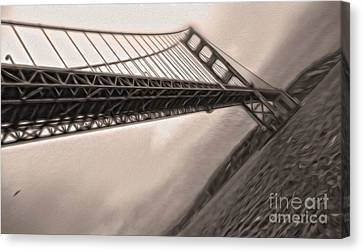 San Francisco - Golden Gate Bridge - 04 Canvas Print by Gregory Dyer