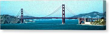 San Francisco - Golden Gate Bridge - 07 Canvas Print by Gregory Dyer