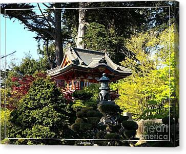 San Francisco Golden Gate Park Japanese Tea Garden 5 Canvas Print by Robert Santuci