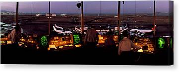 San Francisco Intl Airport Control Canvas Print by Panoramic Images