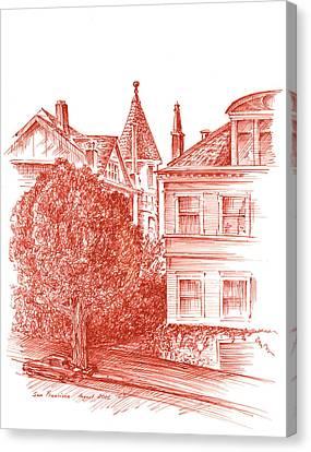 San Francisco Jackson Street Canvas Print by Irina Sztukowski