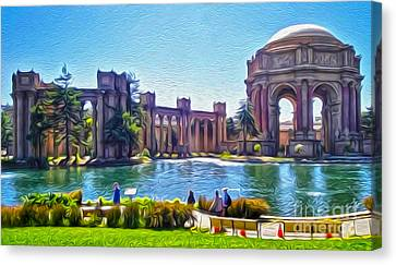 San Francisco - Palace Of Fine Arts - 02 Canvas Print by Gregory Dyer