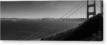 San Francisco Through The Golden Gate Bridge Canvas Print by Twenty Two North Photography