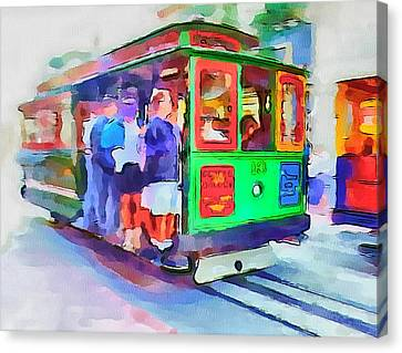 San Francisco Trams 3 Canvas Print by Yury Malkov