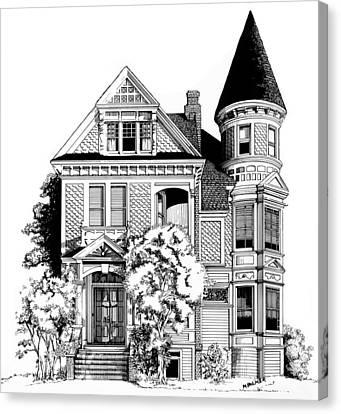 San Francisco Victorian Canvas Print by Mary Palmer