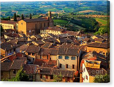 San Gimignano From Above Canvas Print by Inge Johnsson