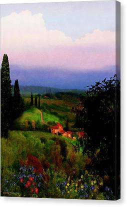 San Gimignano Canvas Print by Patrick J Osborne