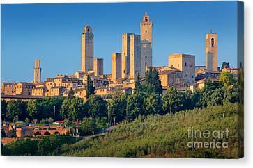 San Gimignano Skyline Canvas Print by Inge Johnsson