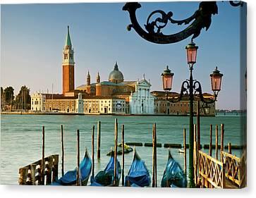 San Giorgio Maggiore Across The Grand Canvas Print by Brian Jannsen