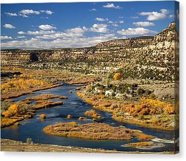San Juan River @ Navajo Dam  Canvas Print by Karl Moffatt