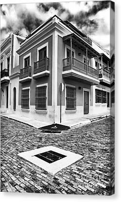 San Juan Street Angles Canvas Print by John Rizzuto