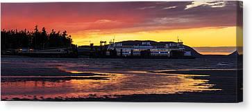 San Juans Ferry Sunset Twilight Canvas Print by Mike Reid