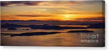 San Juans Island Sunset Light Canvas Print by Mike Reid