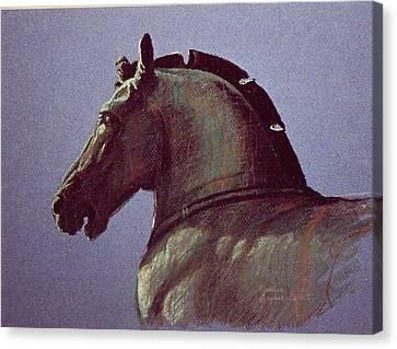San Marco Bronze Horse Canvas Print by Kathleen English-Barrett