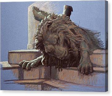 San Marco Lion Canvas Print by Kathleen English-Barrett