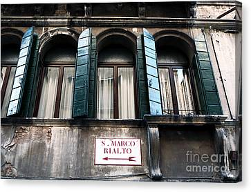 San Marco This Way Canvas Print by John Rizzuto