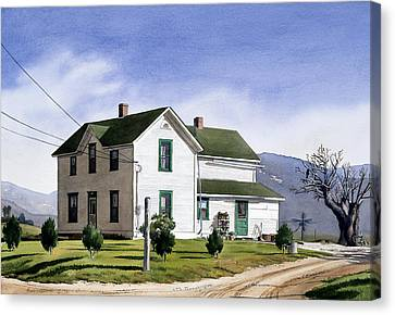 San Pasquale House Canvas Print by Mary Helmreich