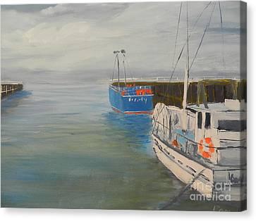 San Remo Fishing Fleet Canvas Print by Pamela  Meredith