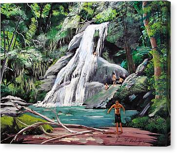 San Sebastian Waterfall Canvas Print by Luis F Rodriguez