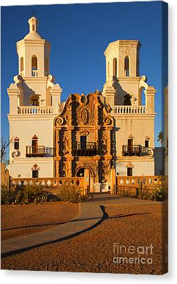 San Xavier Mission Canvas Print by Mike  Dawson