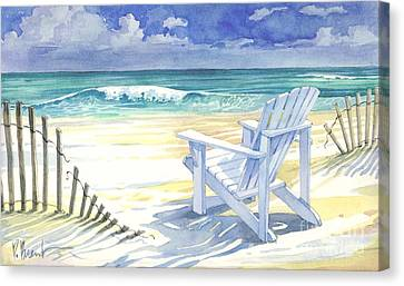 Sand And Shadows Canvas Print by Paul Brent