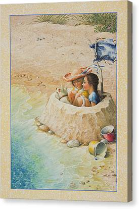 Sand Castle Canvas Print by Lynn Bywaters