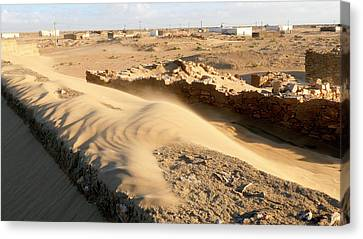 Sand-covered Abandoned Homes Canvas Print by Thierry Berrod, Mona Lisa Production