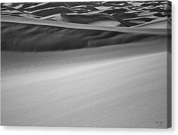 Sand Dunes Abstract Canvas Print by Aaron Spong
