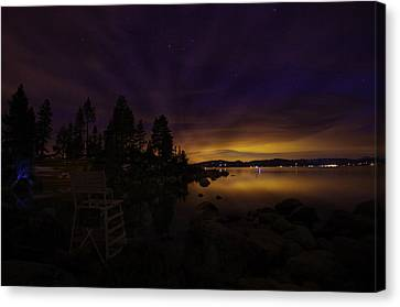 Sand Harbor Lake Tahoe Astrophotography Canvas Print by Scott McGuire