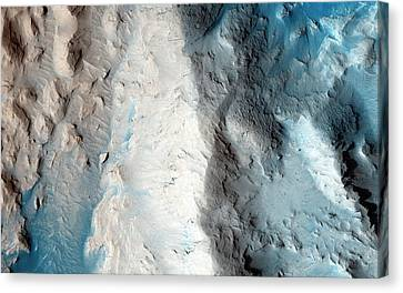 Sand Slopes On Mars Canvas Print by Nasa/jpl-caltech/university Of Arizona