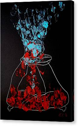 Sand Timer Of Love Canvas Print by Elisheva Nesis