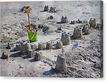 Sandcastle Squatters Canvas Print by Betsy C Knapp