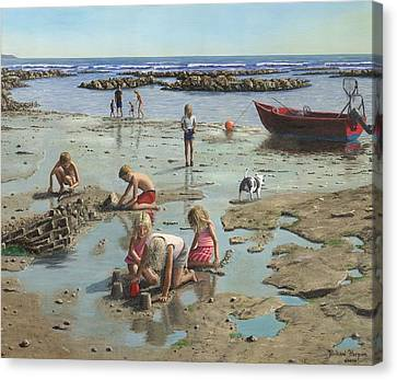 Sandcastles Canvas Print by Richard Harpum