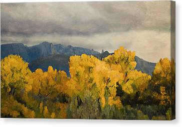 Sandias From The Bosque Canvas Print by Jack Atkins
