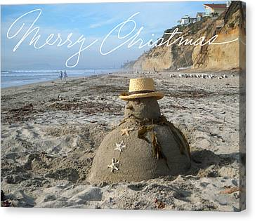 Sandman Snowman Canvas Print by Mary Helmreich