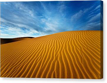 Sands Of Time Canvas Print by Darren  White