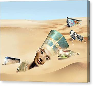 Sands Of Time Canvas Print by Smetek