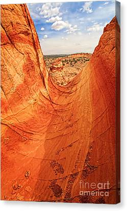 Sandstone Bowl Canvas Print by Inge Johnsson