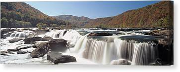 Sandstone Falls New River Gorge Wv Usa Canvas Print by Panoramic Images