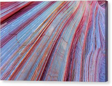 Sandstone Striping In The Vermillion Canvas Print by Chuck Haney
