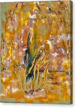 Sandstorm Encaustic Canvas Print by Bellesouth Studio