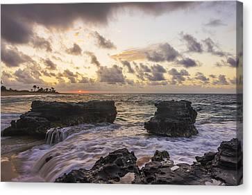 Sandy Beach Sunrise 1 - Oahu Hawaii Canvas Print by Brian Harig