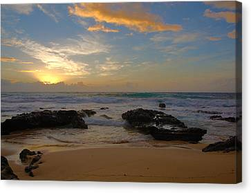 Sandy Beach Sunrise 3 - Oahu Hawaii Canvas Print by Brian Harig