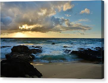 Sandy Beach Sunrise 5 - Oahu Hawaii Canvas Print by Brian Harig